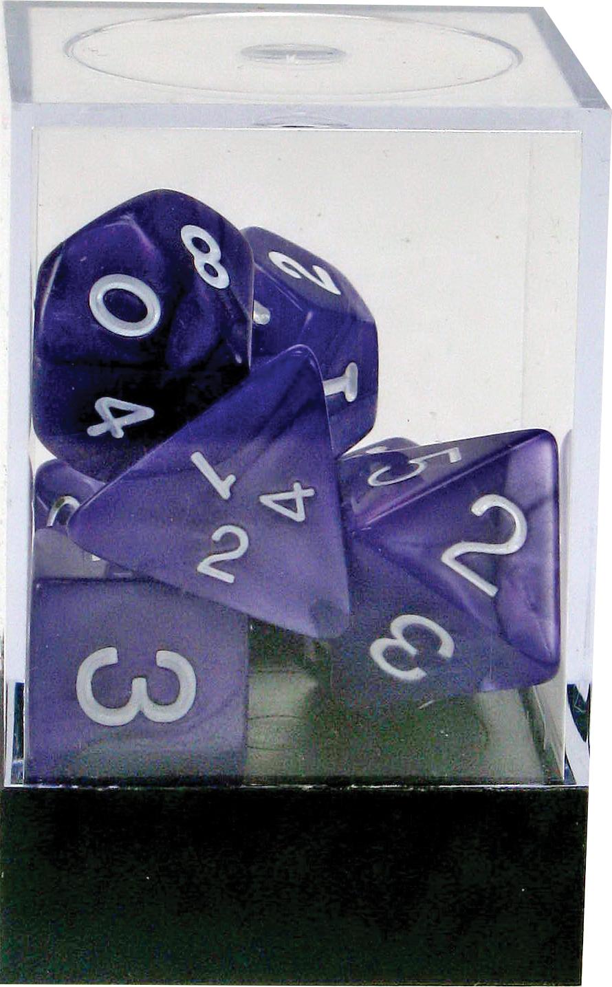 Pearl: Poly Purple Assortment (7)(plastic Box) Box Front