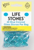 Life Stones: Glass Stones Blue (20) Box Front