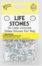 Life Stones: Glass Stones Clear (20) Box Front
