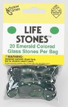 Life Stones: Glass Stones Emerald (20) Box Front