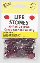 Life Stones: Glass Stones Red (20) Box Front