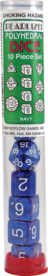 Pearl: Poly Navy Assortment (10)(plug Top) Box Front