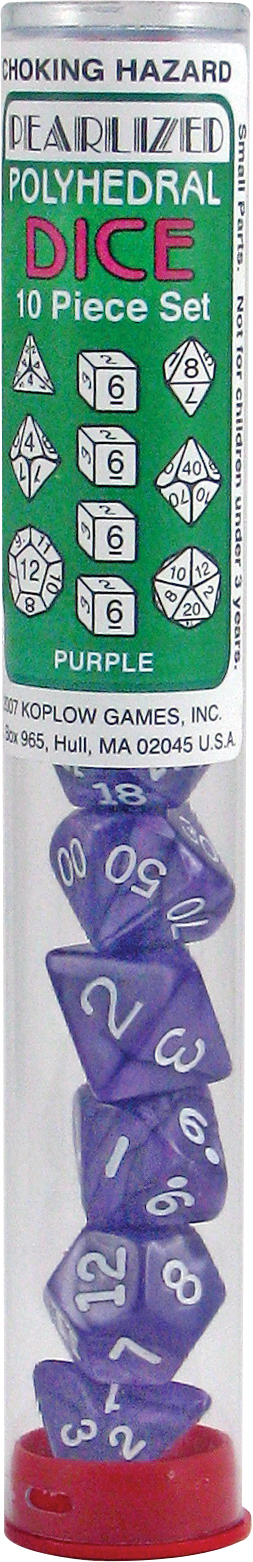 Pearl: Poly Purple Assortment (10)(plug Top) Box Front