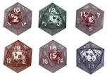 Transparent: D20 Blue Double Die Box Front