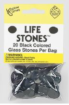 Life Stones: Glass Stones Black (opaque)(20) Box Front