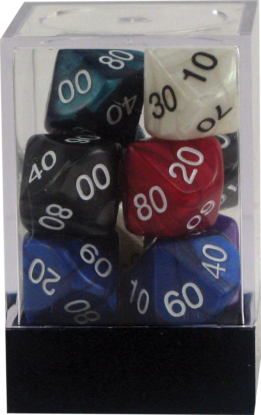 Pearl: Poly Dt10 Tens10 Assorted (10)(plastic Box) Box Front