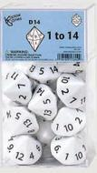 Dice: D14 Numbered 1 To 14 Box Front