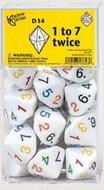Dice: D14 Numbered 1 To 7 Twice Box Front