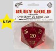 Transparent: 55mm D20 Countdown Ruby/gold  Box Front