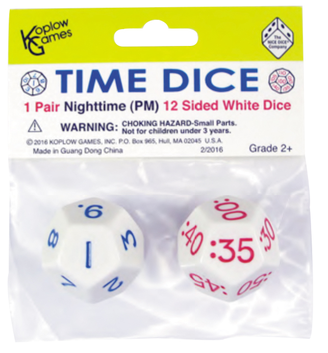 Time Dice: Nighttime (pair) Box Front