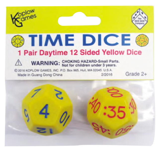 Time Dice: Daytime (pair) Box Front