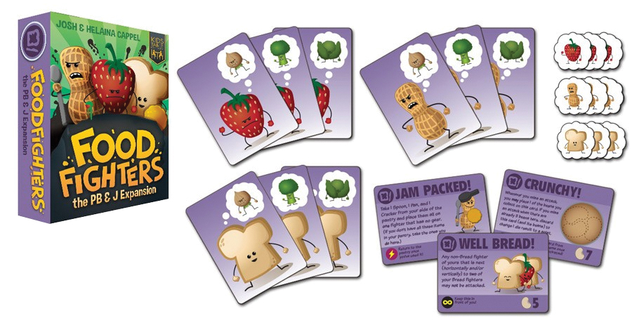 Foodfighters: Pb&j Faction Expansion Box Front