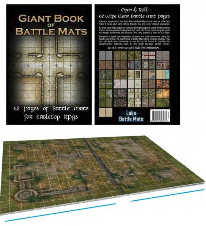 Battle Mats: Giant Book Of Battle Mats