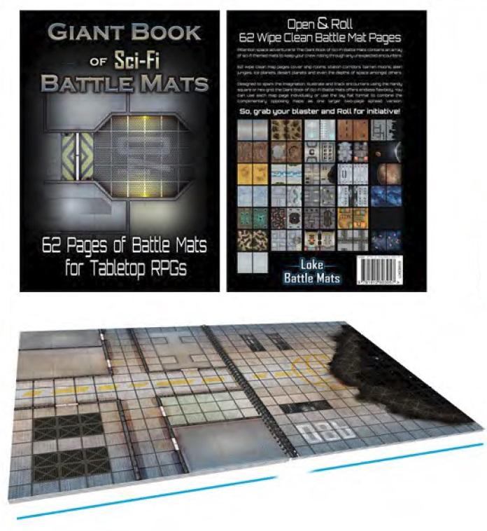Battle Mats: Giant Book Of Sci-fi Battle Mats