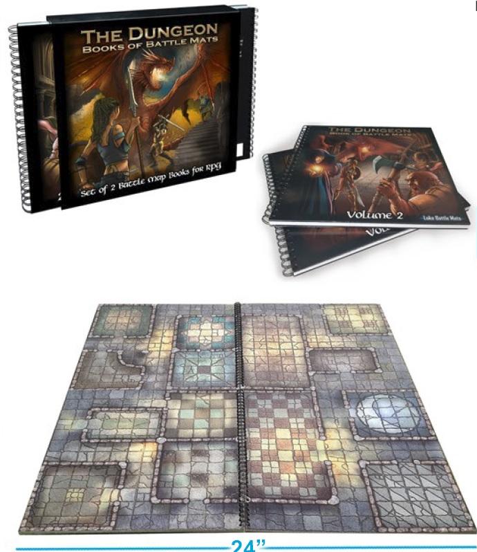 Battle Mats: The Dungeon - Books Of Battle Mats