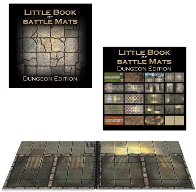 Battle Mats: Little Book Of Battle Mats - Dungeon Edition