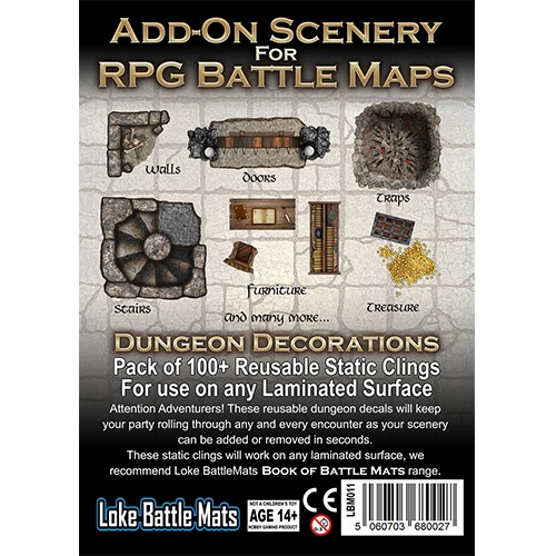 Battle Mats: Add-on Scenery For Rpg Battle Maps - Dungeon Decorations