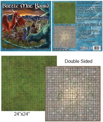 Battle Mats: Battle Mat Board - Grass/flagstone
