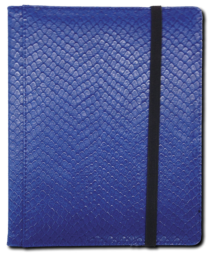 Dragon Hide 4 Pocket Binder Blue Box Front