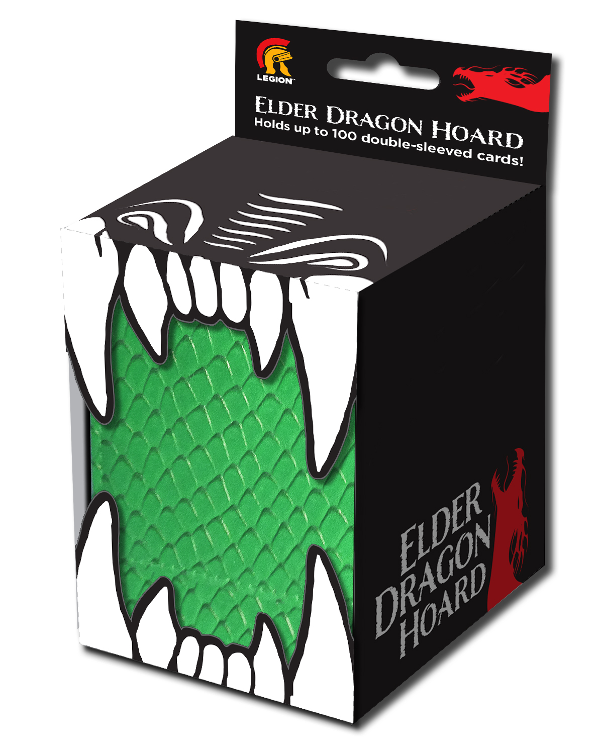 Elder Dragon Hoard Green Deck Box Box Front