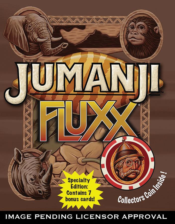 Jumanji Fluxx Specialty Edition Game Box