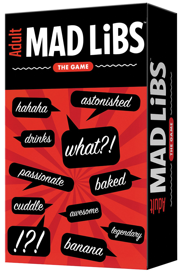 Adult Mad Libs: The Game Box Front