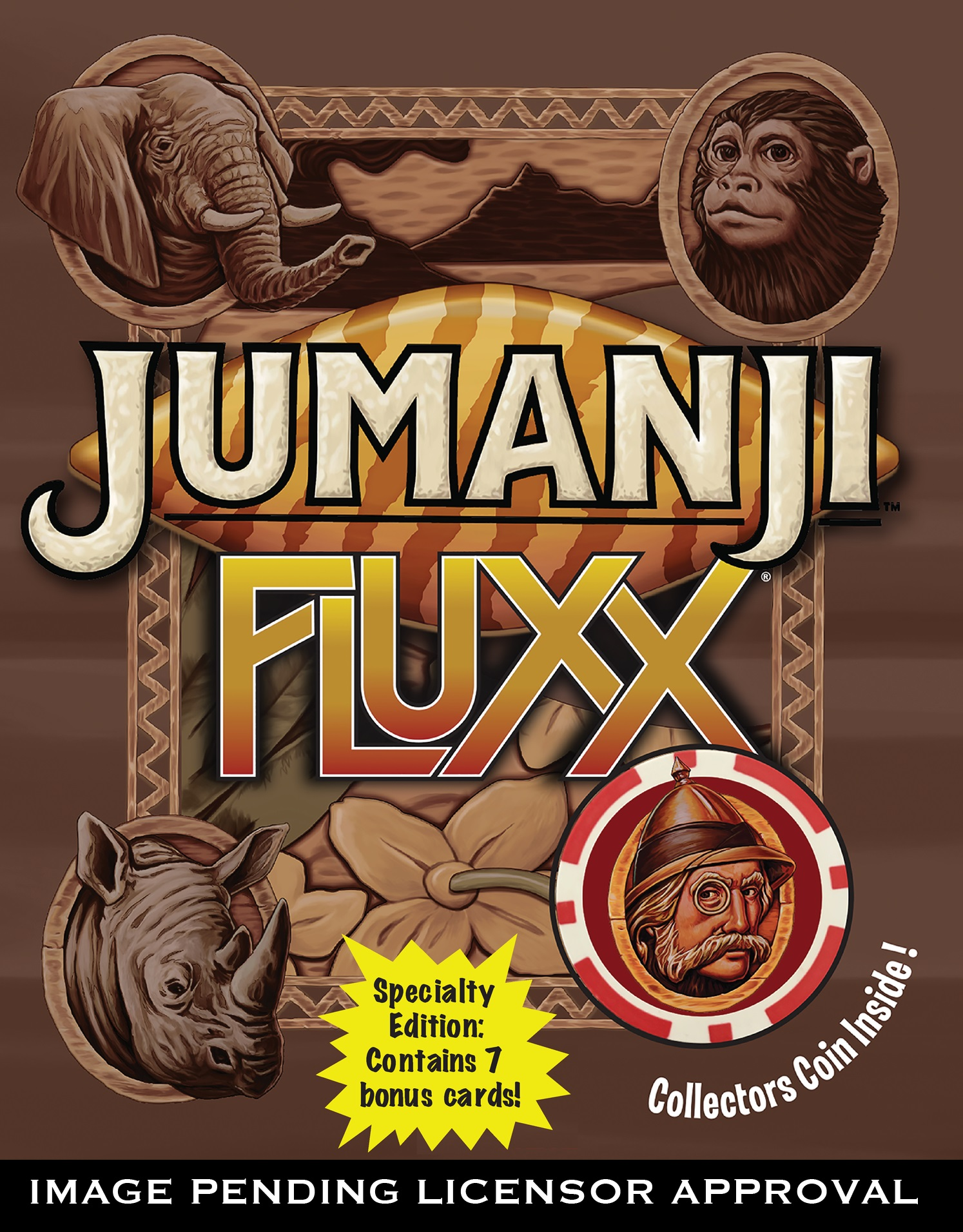 Jumanji Fluxx Demo Game Box