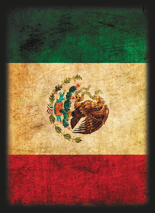 Sleeves (50) Shuffle-tech Flag Series: Mexico Box Front