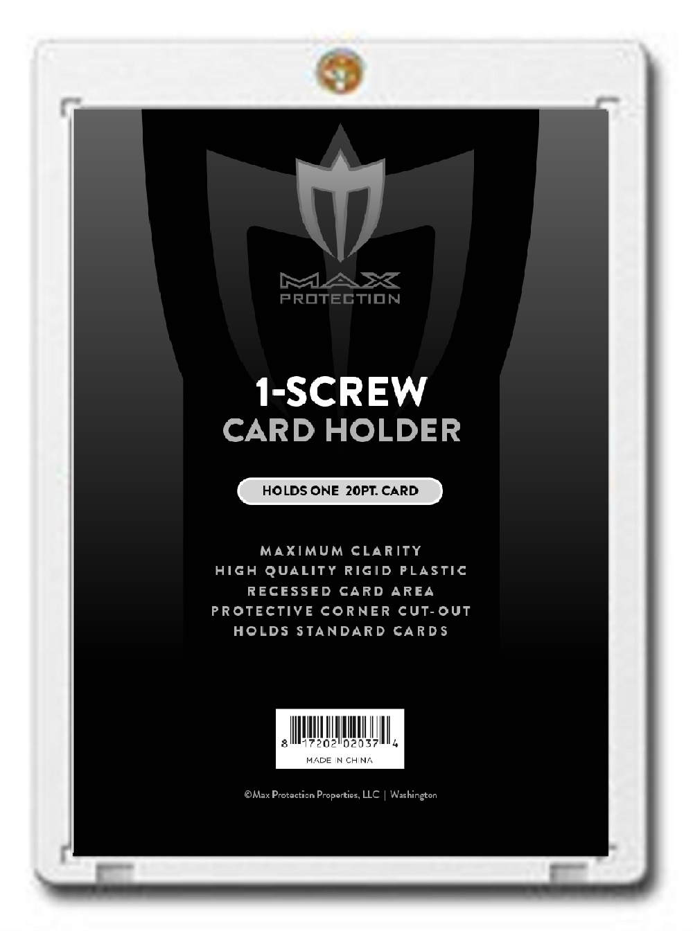 1 Screw Screwdown For Standard 20pt Cards Box Front