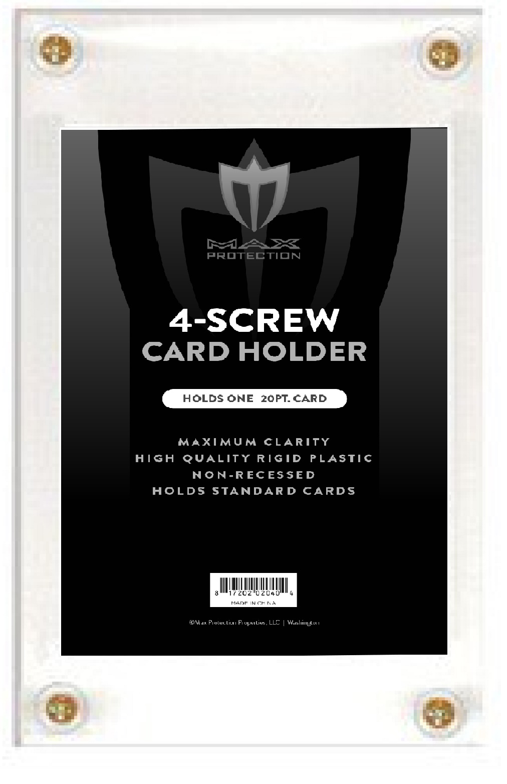 4 Screw Non-recessed Screwdown For Standard 20pt Cards Box Front