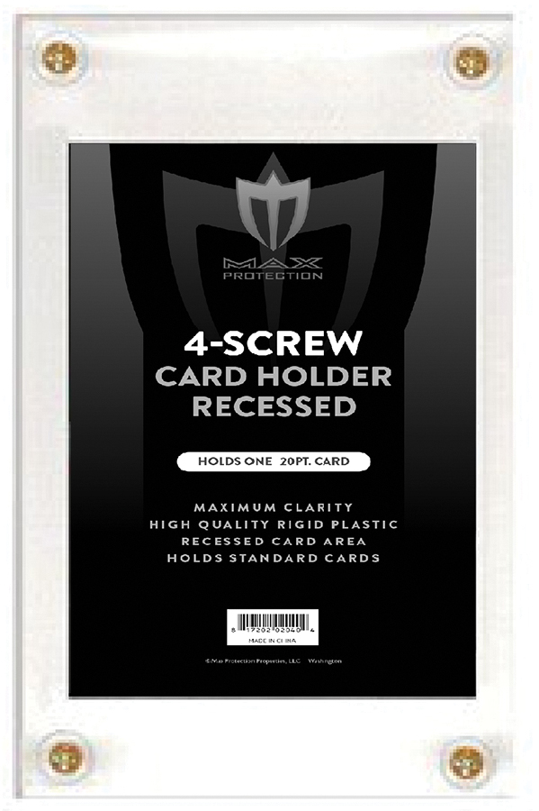 4 Screw Recessed Screwdown For Standard 20pt Cards Box Front