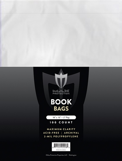 10x13 Book Storage Bags (100 Per Pack) Box Front