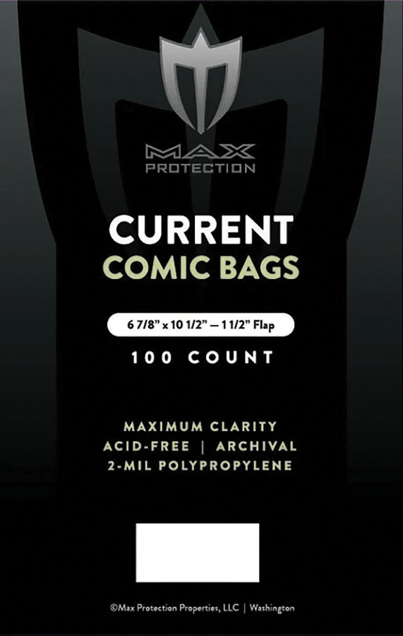 Current: Comic Book Bags 6 7/8in X 10 1/2in (100) Game Box