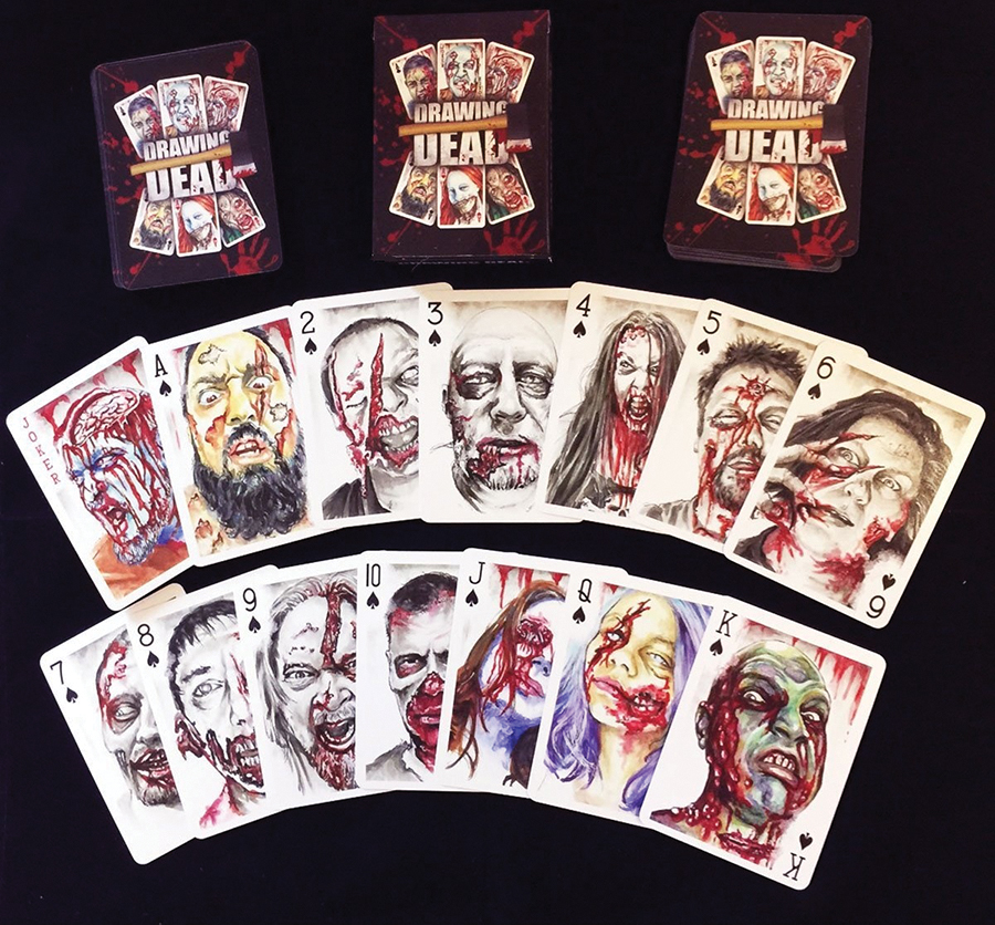 Zombie Poker Deck - Standard Size Playing Cards Box Front