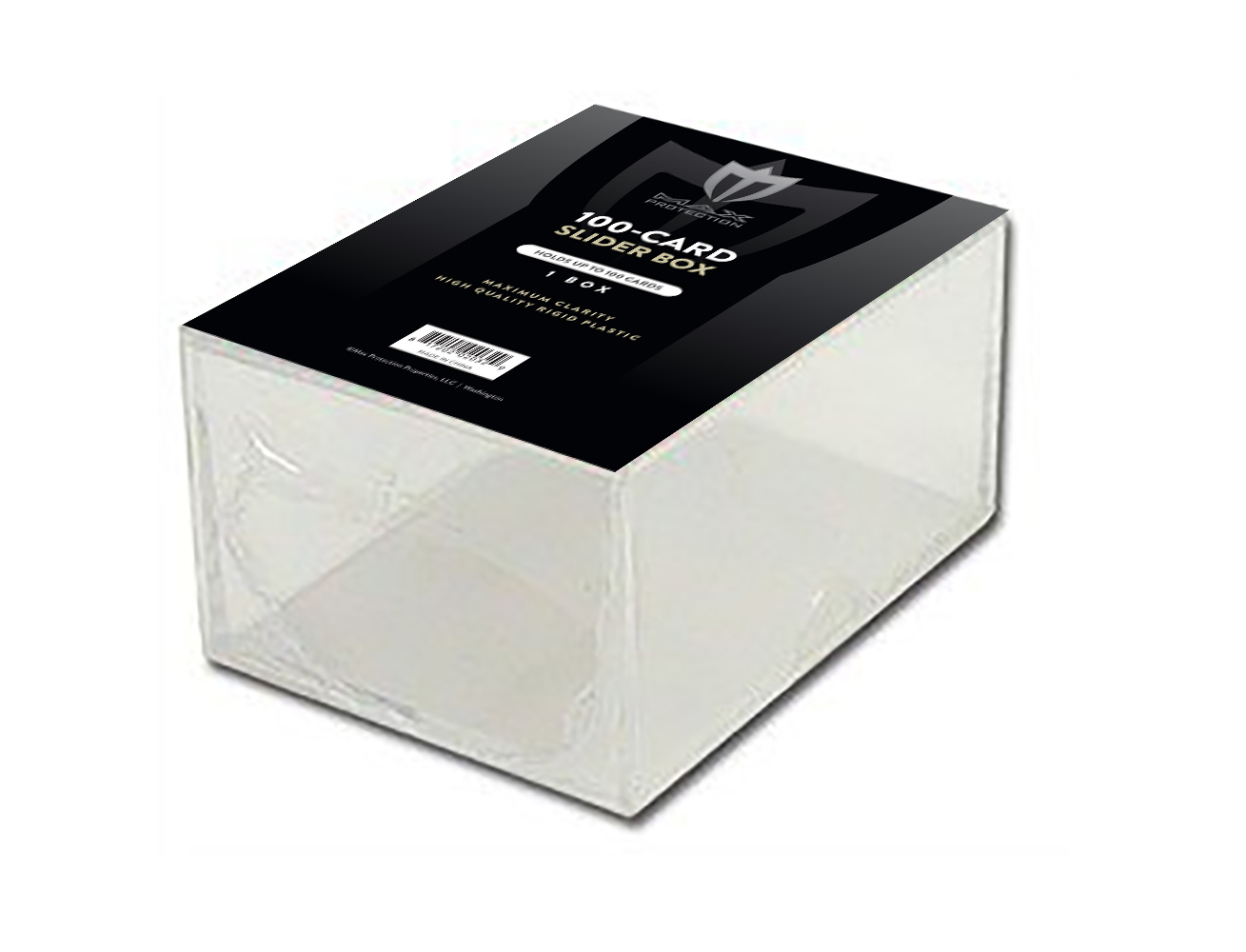 100 Count Clear Acrylic Slider Box Box Front