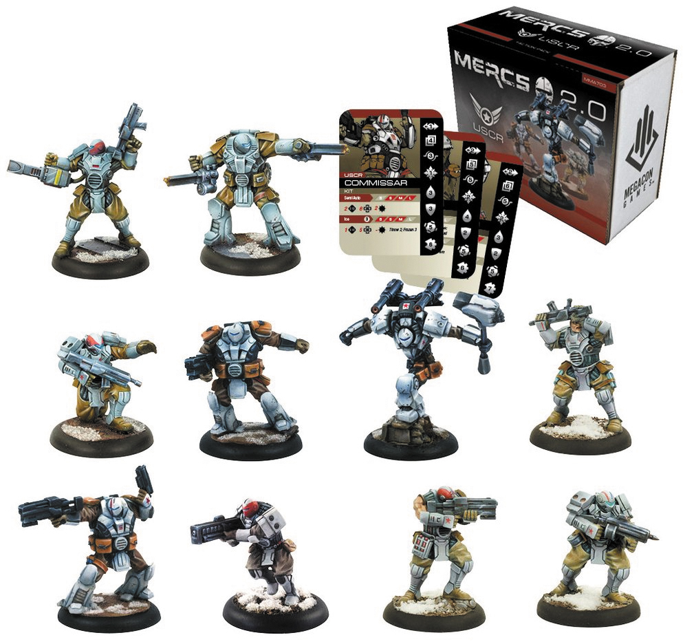Mercs: Tabletop 2.0 - Uscr Faction Pack Box Front