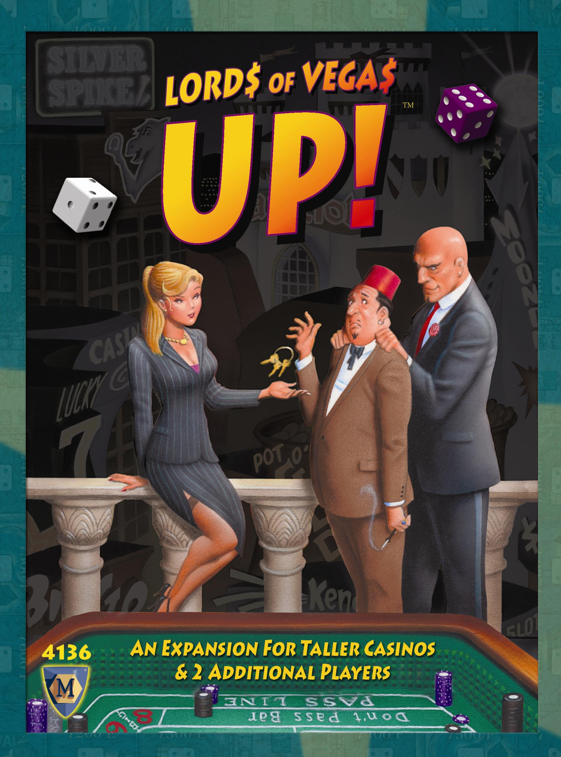 Lords Of Vegas: Up Expansion Box Front