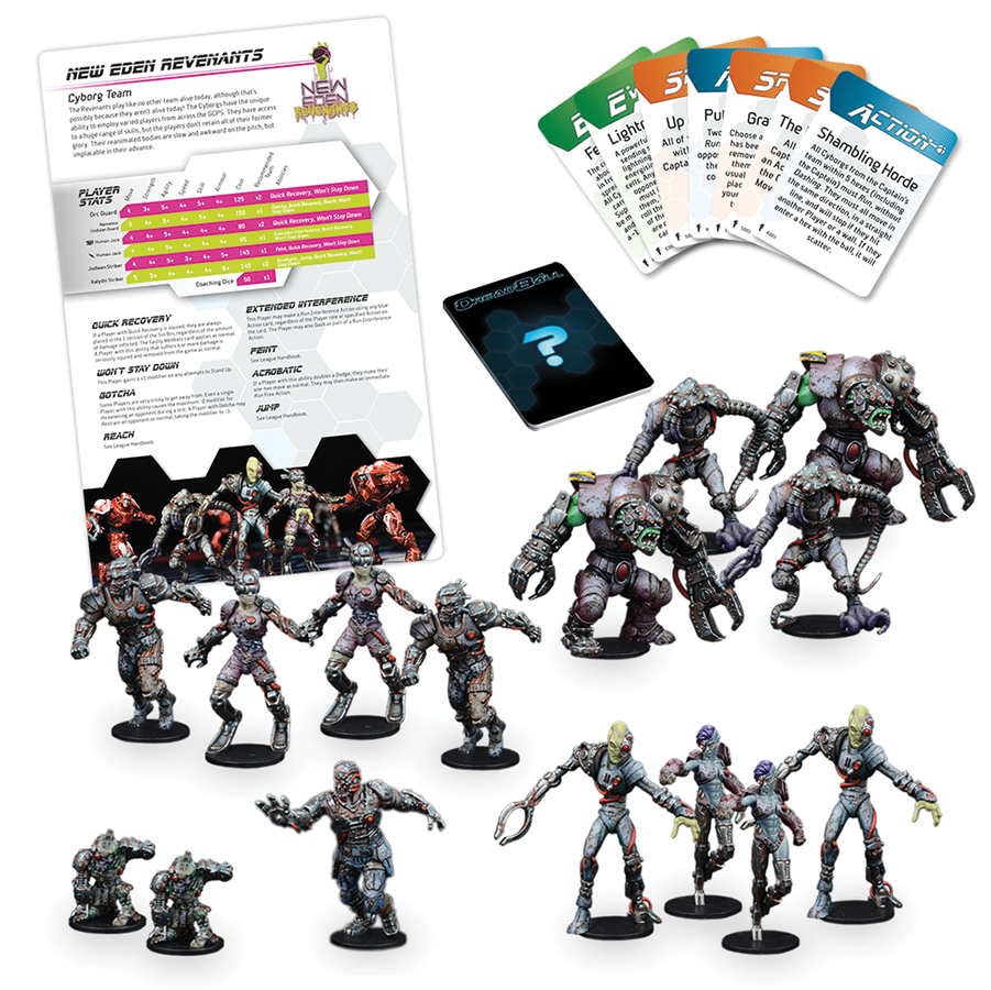 Dreadball: 2nd Edition New Eden Revenants - Cyborg Team Box Front