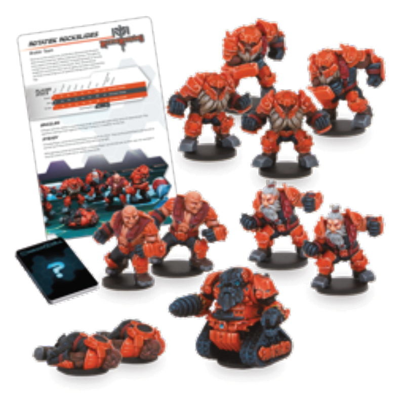 Dreadball: 2nd Edition Rotatek Rockslides - Brokkr Team Box Front