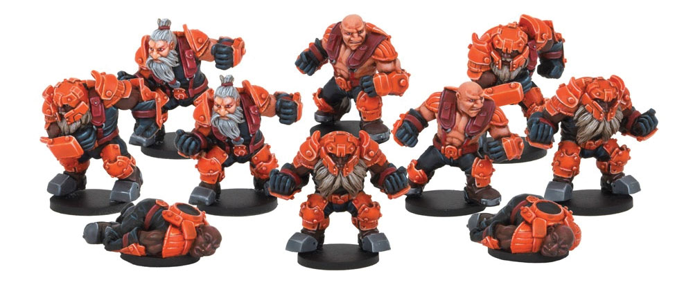 Dreadball: Rotatek Rockslides, Brokkr Team (10) Box Front