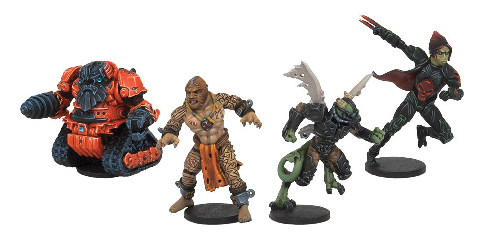 Dreadball: Neodurium Knuckle Draggers, All Star Mvp Pack (4) Box Front