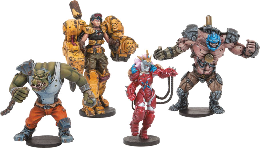 Dreadball Season 5: Strike Zone Stunners, All Star Pack (4) Box Front