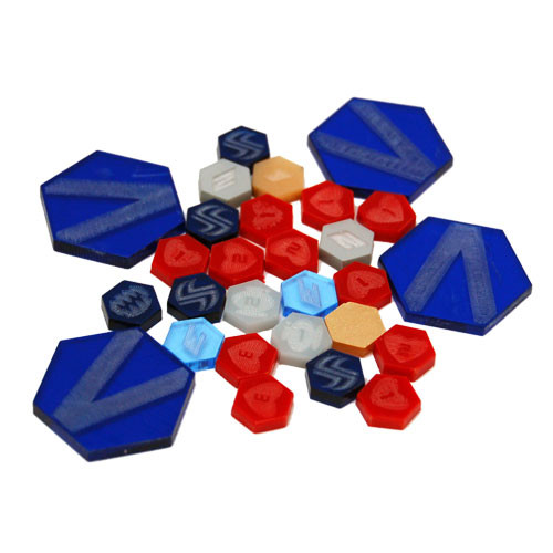 Dreadball: Xtreme Premium Acrylic Counters (blue)