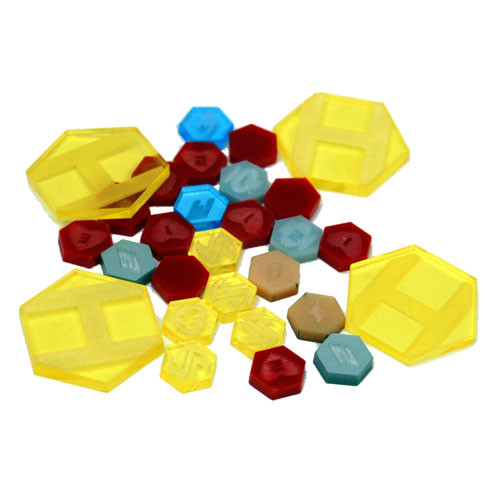 Dreadball: Xtreme Premium Acrylic Counters (yellow)