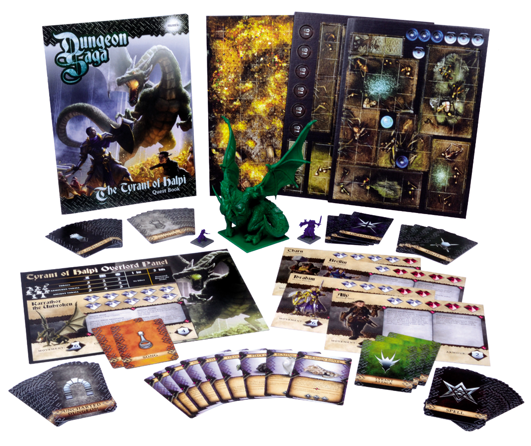 Dungeon Saga: The Tyrant Of Halpi Expansion Box Set Box Front
