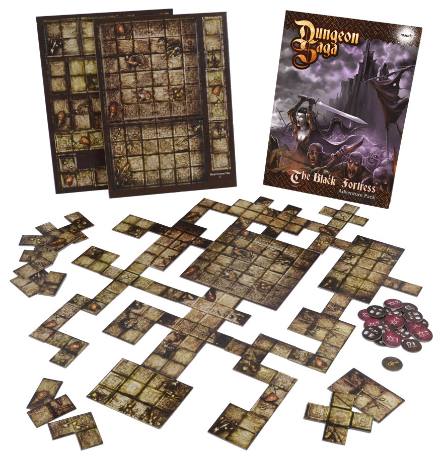 Dungeon Saga: The Black Fortress Box Front