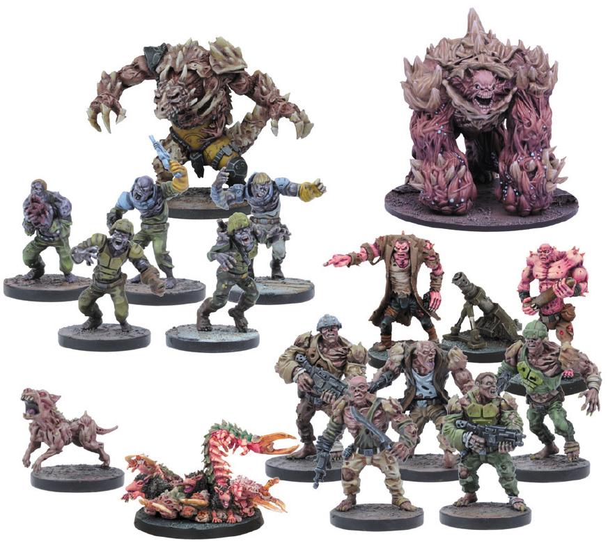 Deadzone: Plague Faction Booster Set (17) Box Front
