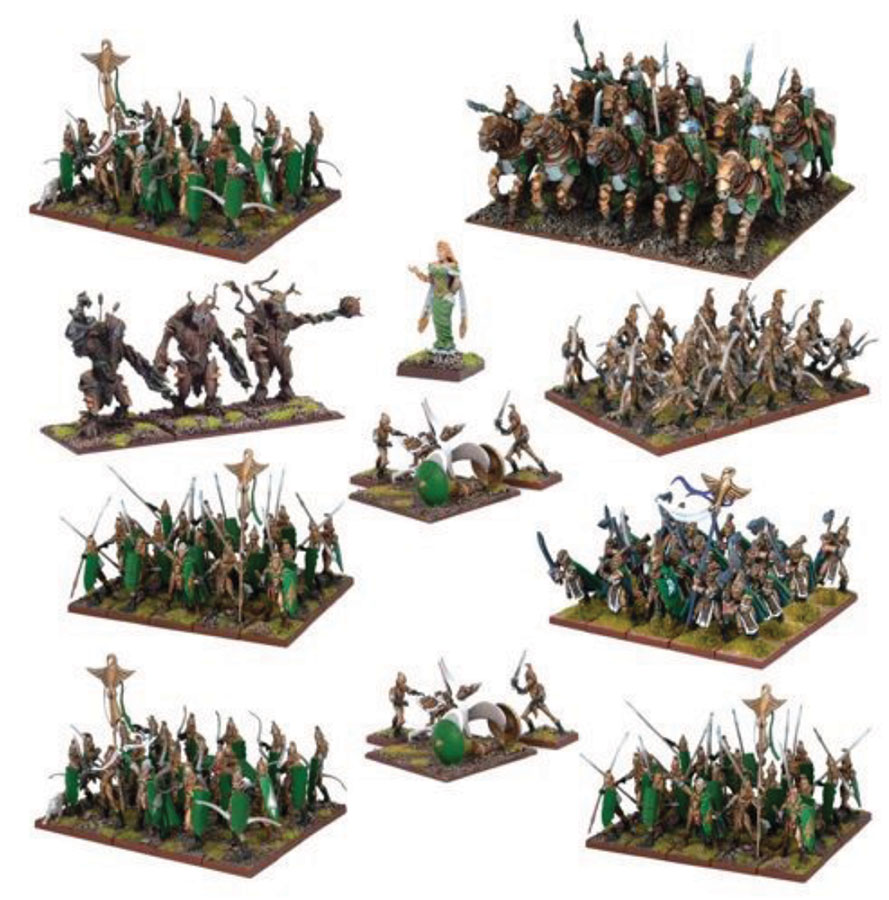 Kings Of War: Elf Mega Army Box Front