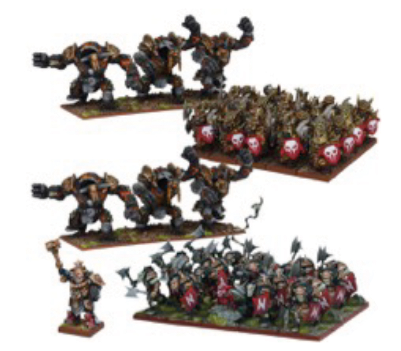 Kings Of War: Abyssal Dwarf Army Box Front