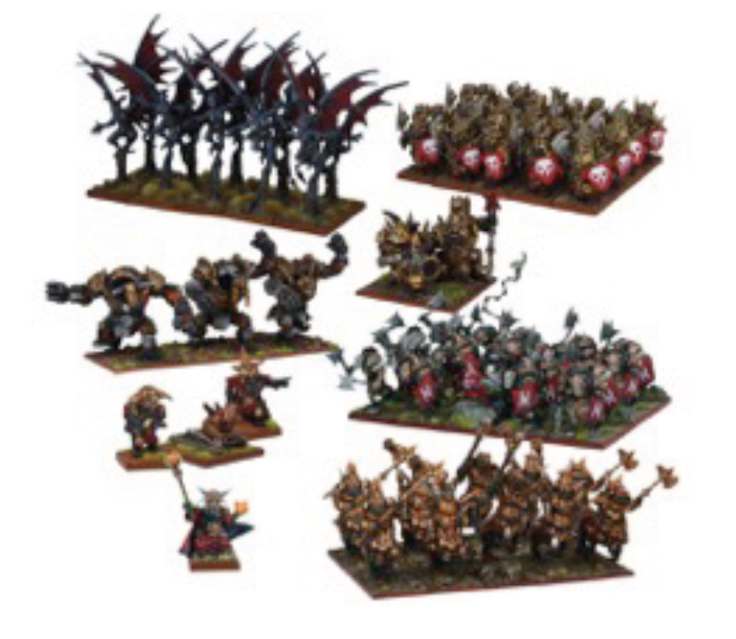 Kings Of War: Abyssal Dwarf Mega Army Game Box